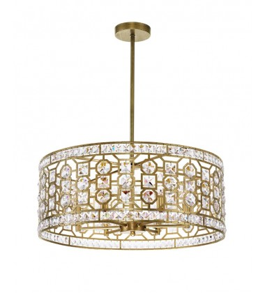 CWI- Belinda 6 Light Chandelier with Champagne Finish (1026P23-6-193)