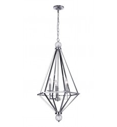 Calista 3 Light Chandelier with Chrome Finish (1027P20-3-601) - CWI Lighting