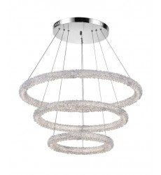 Arielle LED Chandelier with Chrome Finish (1042P32-601-3R) - CWI Lighting