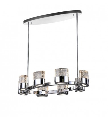 CWI - Emmanuella 8 Light Chandelier with Chrome Finish (1061P31-8-601-O)