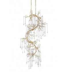 Anita 12 Light Chandelier with Gold Leaf Finish (1094P26-12-620) - CWI Lighting