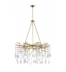 Anita 12 Light Chandelier with Gold Leaf Finish (1094P43-12-620) - CWI Lighting