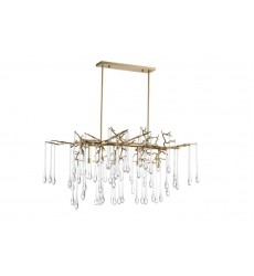 Anita 10 Light Chandelier with Gold Leaf Finish (1094P47-10-620) - CWI Lighting