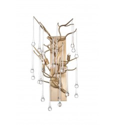 Anita 3 Light Wall Sconce with Gold Leaf Finish (1094W11-3-620) - CWI Lighting