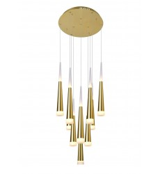 Andes LED Multi Light Pendant with Gold Leaf Finish (1103P16-10-619) - CWI Lighting