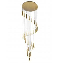 Andes LED Multi Light Pendant with Gold Leaf Finish (1103P40-36-619) - CWI Lighting