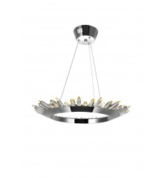 Arctic Queen LED Up Chandelier with Polished Nickel Finish (1108P24-613) - CWI Lighting