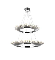 Arctic Queen LED Up Chandelier with Polished Nickel Finish (1108P32-2-613) - CWI Lighting