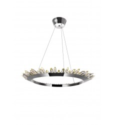 Arctic Queen LED Up Chandelier with Polished Nickel Finish (1108P32-613) - CWI Lighting