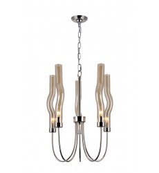 5 Light Chandelier with Polished Nickel Finish (1203P16-5-613) - CWI Lighting