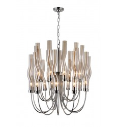 22 Light Chandelier with Polished Nickel Finish (1203P29-22-613) - CWI Lighting
