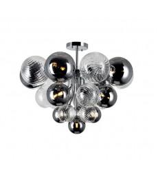 10 Light Flush Mount with Chrome Finish (1205C25-10-601) - CWI Lighting