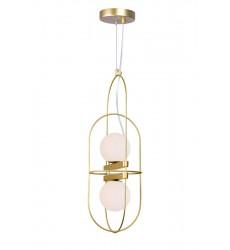 2 Light Pendant with Medallion Gold Finish (1209P7-2-169) - CWI Lighting