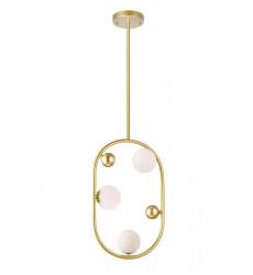 3 Light Mini Pendant with Medallion Gold Finish (1212P12-3-169) - CWI Lighting
