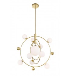 10 Light Chandelier with Medallion Gold Finish (1212P28-10-169)
