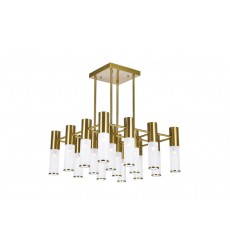 16 Light Chandelier with Brass Finish (1221P20-16-625) - CWI Lighting