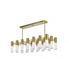 21 Light Island/Pool Table Chandelier with Brass Finish (1221P38-21-625) - CWI Lighting