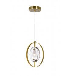 1 Light Mini Pendant with Brass Finish (1224P8-1-625) - CWI Lighting