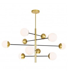 10 Light Chandelier with Medallion Gold Finish (1226P38-10-169)