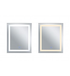 Rectangle Matte White LED 30 in. Mirror From our Abril Collection (1232W30-36-A) - CWI Lighting