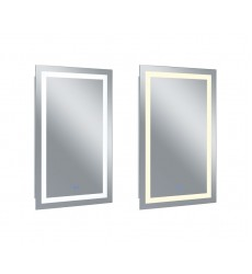 Rectangle Matte White LED 30 in. Mirror From our Abril Collection (1232W30-49-A) - CWI Lighting