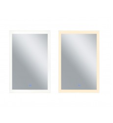 Rectangle Matte White LED 30 in. Mirror From our Abigail Collection (1233W30-49) - CWI Lighting