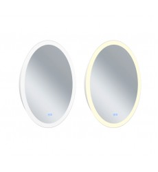 Oval Matte White LED 22 in. Mirror From our Agostino Collection (1234W22-O) - CWI Lighting