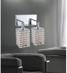 CWI- Glitz 2 Light Vanity Light with Chrome finish (4282W-RC-S Clear crystal)