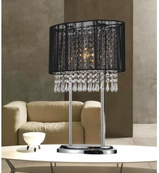 CWI- Sheer 1 Light Table Lamp with Chrome finish (5004T13C(B))