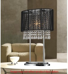CWI- Sheer 1 Light Table Lamp with Chrome finish (5004T13C(W))
