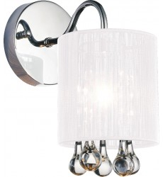 Water Drop 1 Light Bathroom Sconce with Chrome finish (5006W5C-1 (W))