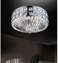 Bloome 4 Light Bowl Flush Mount with Chrome finish (5039C13C)