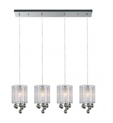 Radiant 4 Light Multi Light Pendant with Chrome finish (5062P33C-4 (Smoke + W))