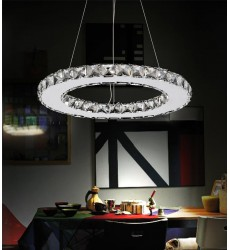 Ring LED  Chandelier with Chrome finish (5080P16ST-R)