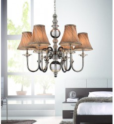 CWI - Curves 6 Light Up Chandelier with Chrome finish (5108P30C-6)