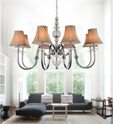 Curves 8 Light Up Chandelier with Chrome finish (5108P36C-8)