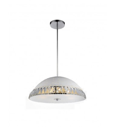 CWI- Dome 5 Light Down Chandelier with White finish (5109P16W)