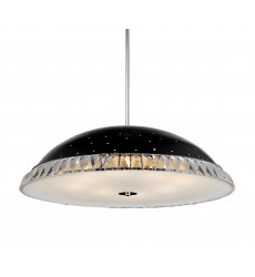 CWI- Dome 8 Light Down Chandelier with Black finish (5109P24B)