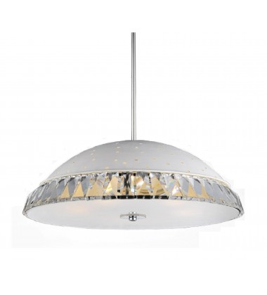 CWI- Dome 8 Light Down Chandelier with White finish (5109P24W)