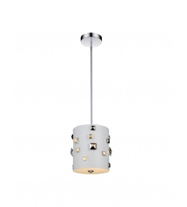CWI- Shadow 2 Light Drum Shade Mini Pendant with White finish (5116P7W)