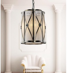 CWI- Diana 1 Light Drum Shade Mini Pendant with Black finish (5207P8AB)