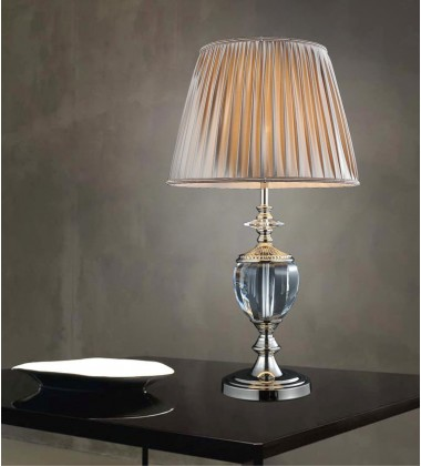 Yale 1 Light Table Lamp with Silver finish (5208T15S) - CWI Lighting