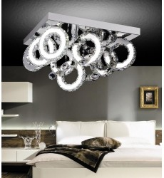 CWI - Ring LED  Flush Mount with Chrome finish (5417C24ST-RC-B)