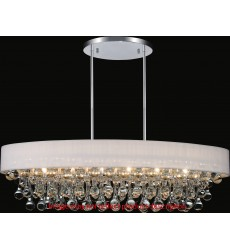 CWI- Atlantic 10 Light Drum Shade Chandelier with Chrome finish (5422P36C-O)