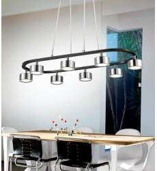Trail LED Down Pendant with Black & Chrome finish (5446P30C-LED)