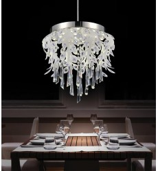 Frost LED Down Chandelier with Chrome finish (5452P17C-LED)