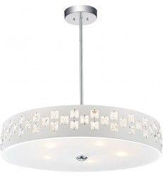CWI - Stellar 5 Light Down Chandelier with Chrome finish (5484P20C)