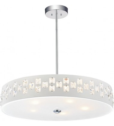 Stellar 5 Light Down Chandelier with Chrome finish (5484P20C)