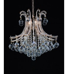 Idyllic 4 Light Down Chandelier with Chrome finish (5506P19C)