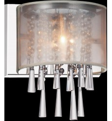 CWI- Renee 1 Light Bathroom Sconce with Chrome finish (5519W8C-1 (Beige))